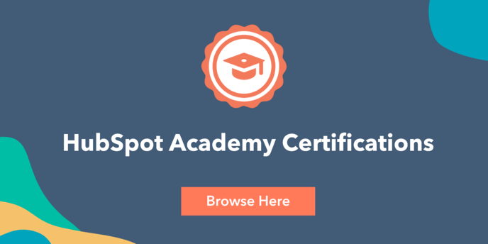 HubSpot Academy Certifications Browse Here
